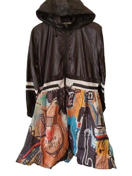 rain coat black £27