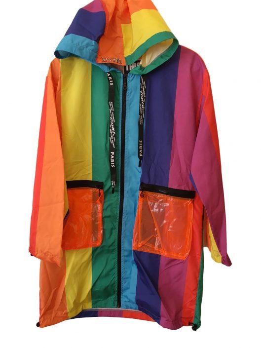 rainbow rain coat £27.00